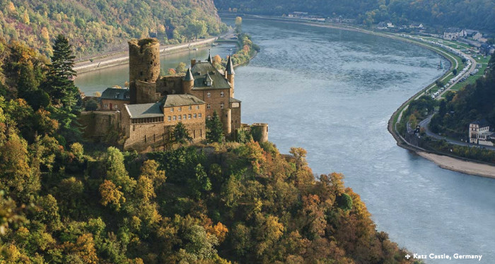 Katz Castle Rhine Germany