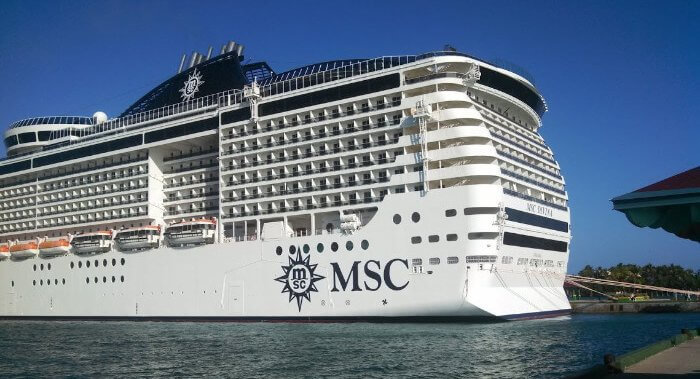 MSC Divina in the Bahamas