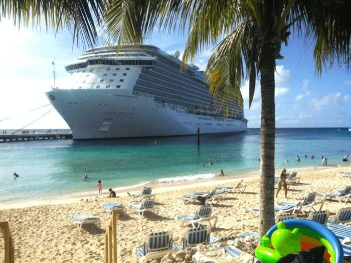 Royal Princess In Grand Turk Caribbean cruise deals with a military and Veteran discount
