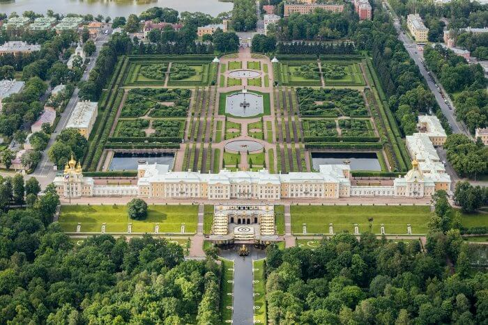 Military and Veteran Discounts on Baltic/Russia Cruises Ariel View Peterhof Gardens