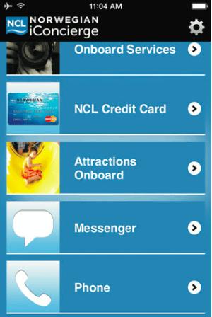 Norwegian Onboard App