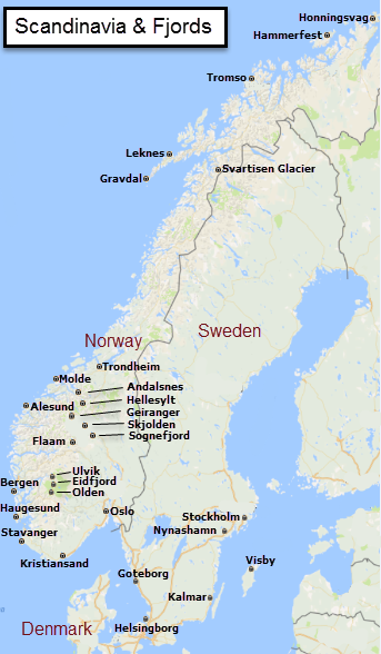 scandinavia and fjords Military and Veteran discounts on all Northern Europe cruises