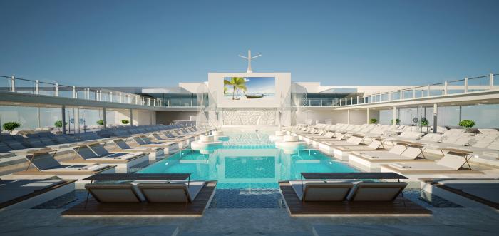 Main Pool By Day MSC Meraviglia